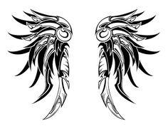 Modelo de tattoo de asas estilo maori