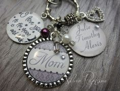 Mom Gift Mothers personalized KeyChain Childrens by SilverRapture, $22.00