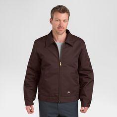 Dickies Men's Big & Tall Twill Insulated Eisenhower Jacket- Brown Xxxl Tall