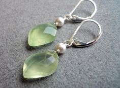 Appletini at the Club prehnite earrings by SueanneShirzay on Etsy, $50.00