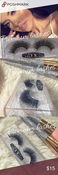 Premium Mink Eyelashes All brand new include  ✨PREMIUM 100% mink hair eyelashes 1 pair ✅super volume ✅super curl ✅super natural  Up to 25 wears with proper care❣️    Add on applicator +$2 Add on glue + $3 Add on decorated eyelash case +$5 Please message me if you want to add them ❣️   # tags Iconic, mink, red cherry eyelashes, house of lashes, doll, kawaii, case, full, natural,  Koko, Ardell, wispies, Demi , makeup, mascara, eyelash applicator, tweezer Makeup False Eyelashes