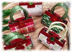 Small handbags for mini gingerbread with DSP Christmas delights - Easy Crafts for All Scrapbook Organization, Handbag Organization, Origami Ball, Diy Handbag, Diy Purse, Stampin Up Christmas, Christmas Crafts, Christmas Tag, Christmas Cookies