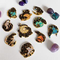 Image of Reptilia Solaris Hard Enamel Pins