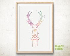 Patronus Charm, Harry Potter - Watercolor, Art Print, Home Wall decor, Watercolor Print, Harry Potter Poster