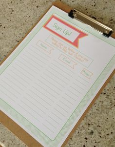 Sign Up Sheets 6 Designs Filled and Unfilled by AJCDesignStudio