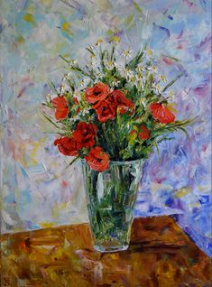 Mother's Day Flowers impasto palette knife oil painting on canvas Wild bouquet, burnt orange home decor Simple Oil Painting, Oil Painting Texture, Oil Painting On Canvas, Oil Paintings, Watercolor Paintings, Flower Artwork, Colorful Wall Art, Floral Wall Art, Art Flowers