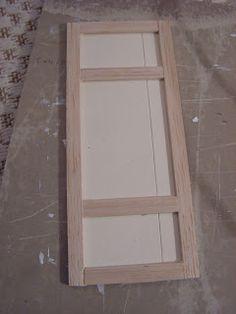 Mini daydreams - how to make a shabby panel door