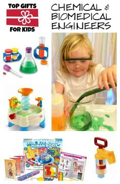 Top Gifts for Young Chemical Biomedical Engineers Left Brain Craft Brain Preschool Learning Activities, Preschool Science, Science For Kids, Teaching Kids, Steam Activities, Brain Activities, Preschool Activities, Steam For Preschool, Brain Craft