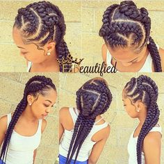 STYLIST FEATURE  These #braids styled by #ATLStylist @EZImprovedBeauty are so dope Something different for your summer vacation #VoiceOfHair _______________________________ Get our free eBook at VoiceOfHair.com for more #hairspiration➰