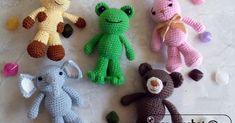 Free Pattern and photo tutorial 4 these Animal friends ~ Zan Crochet - Easter Crochet, Crochet Baby, Free Crochet, Giraffe Crochet, Crochet Animals, Crochet Amigurumi Free Patterns, Crochet Toys, Baby Mobile, Crochet Ornaments