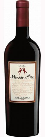 Menage a Trois Red Blend 2011 - Purchased 07/04/2013 - Jack's. The 2011 Menage a Trois exposes the fresh, ripe, jam like fruit that is the calling card of California wine. Forward, silky and soft, this delicious dalliance makes the perfect accompaniment for grilled meats or chicken.