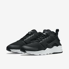 superior quality 5200e 73ad8 Nike Air Huarache Run Ultra 819151-001 Black White Womens Sportswear Shoes  NEW!
