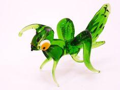Blown Glass Grasshoppers glass animals art glass sculpture miniature figurine blown glass animals artwork murano glass gifts boro Hand blown