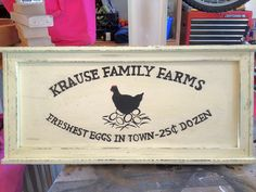 Farm Sign Farm Signs, Diy Projects To Try, Wonderful Time, Business Ideas, Times, Chicken, My Love, Fall, Creative