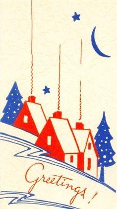 145 Best Deco Christmas Cards Images Vintage Christmas Retro