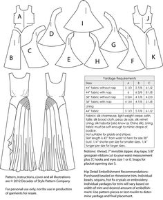 The best DIY projects & DIY ideas and tutorials: sewing, paper craft, DIY. DIY Clothing & Tutorials There aren't enough superlatives to describe this evening gown pattern. Its stunning Art Deco design lines will grabDecades of Style Leading Lady Gown Techniques Couture, Sewing Techniques, Costume Année 30, Vintage Sewing Patterns, Clothing Patterns, Diy Clothing, Dame, Evening Gown Pattern, Patron Vintage