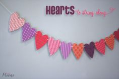 Valentine's garland to print, string and enjoy