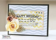 How to Make A Modern Birthday Card with Izink and Clearsnap Art Screens by Meihsia Liu! Click on the image for  the instructions. | Clearsnap Blog