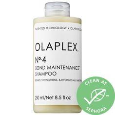 Shop Olaplex's No. 4 Bond Maintenance™ Shampoo at Sephora. This reparative shampoo leaves hair easy to manage, shiny, and healthier. Sephora, Protective Hairstyles, Cool Hairstyles, Scene Hairstyles, Winter Hairstyles, Bride Hairstyles, Jet Set, Parfum Yves Saint Laurent, Brassy Hair