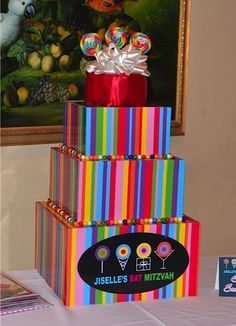 30 Candy Theme Mitzvah Amp Party Ideas Candy Dot Table
