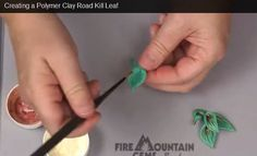 Creating a Polymer Clay Road Kill Leaf #diyvideo #ChristiFriesen #polyclay #diyjewelrymaking