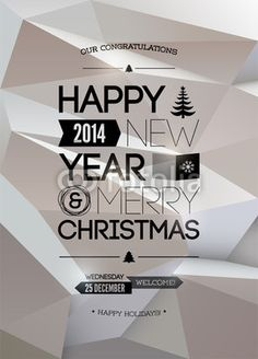 Vecteur : Merry Christmas & Happy New Year design