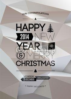 Merry Christmas & Happy New Year design