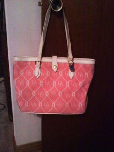 Authentic Doonie & Bourke Bucket Purse in My_Online_Yard_Sale_QC Sale in Rock Island , IL for $180.00. Pink with white accents. Paid 240.00. Used less than a month