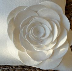 Felt flower pillow:: instructions included