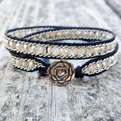 No automatic alt text available. #Regram via @BsBHVX8HJuk Beaded Wrap Bracelets, Bohemian Bracelets, Braided Bracelets, Beaded Jewelry, Jewelry Bracelets, Handmade Jewelry, Jewellery, Raw Crystal Jewelry, Amethyst Jewelry