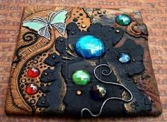 tutoriales POLYMER CLAY JOURNAL COVERS. - Buscar con Google