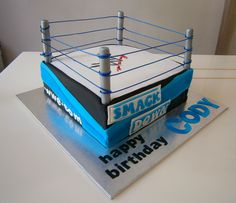 WWE wrestling cake. @ Cakes by Bonnie