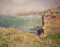 Claude Monet - Cliff at Varengeville, 1882