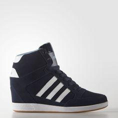 c3256c7d84d Adidas Super Top High Blue comfort suede fashion Wedge shoes boots AW4847  PRM  adidas