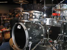 DW drums. Love the finish on this one!!!