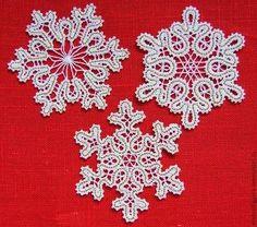 Снежинки кружевные. - белый,снежинка,Снег,елочные игрушки,елочные украшения