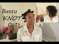 How To Do Bantu Knot Out Style On Wet Natural Hair