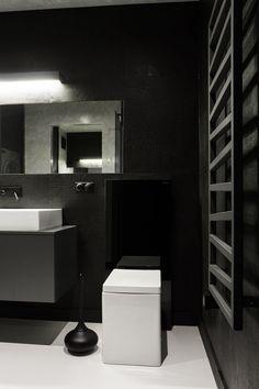 Badezimmer monochrome Farben-Wand-Heizkörper Design