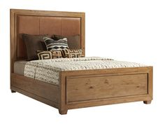 Give a relaxed touch to your bedroom furniture setting with this transitional king panel bed that has a leather headboard studded with shiny nailheads. Bedroom Furniture Sets, Bed Furniture, Online Furniture, Leather Headboard, Queen Headboard, Master Bedroom Redo, Contemporary Furniture Stores, Lexington Home, Guest Bed