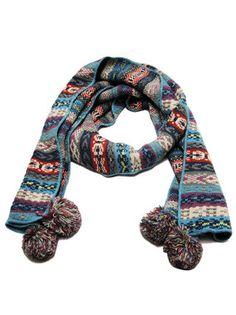 Warm and bright pom-pom scarf! Winter isn't over yet!   http://www.happyyam.com/winter-knit-pompom-scarf/ #scarf #winter #warm #scarves #cute #pompom #knitscarf