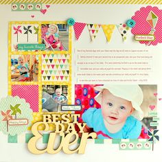 Best Day Ever *My Creative Scrapbook Kits* - Apr. 2014 Echo Park - Splendid Sunshine Collection + Simple Stories - Fresh Air Collection