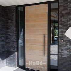 Take a look at this awesome modern front doors - what an ingenious design and development Modern Front Door, Wood Front Doors, Exterior Front Doors, Entry Doors, Door And Window Design, Front Door Design, House Main Door, Porch Stairs, Home Design Plans