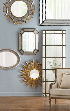 Is it vain of us to love a wall full of mirrors? Absolutely not. Wall mirrors add elegance and shine to a space. HomeDecorators.com #summerfun