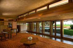 Randall Fawcett House, Frank Lloyd Wright. 1961. Los Banos, California. Usonian Style