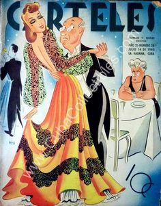 Cuban Decor, Cuban Culture, Dance Magazine, Big Shoulders, Art Deco Posters, Advertising Poster, Covergirl, Magazine Covers, A Line Skirts