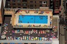 Symmetrical heaven with a pool