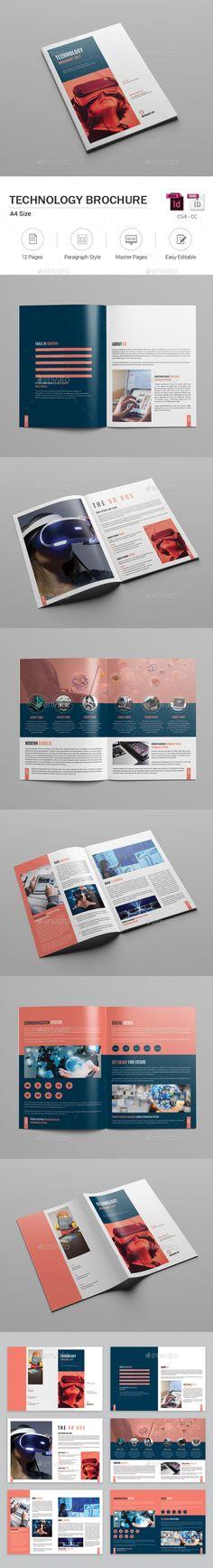 Corporate Bi-Fold Brochure Brochures and Brochure template - technology brochure template