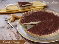 Crostata tiramisù Nutella, Gelato, Cheesecake, Bakery, Food And Drink, Sweets, Snacks, Cooking, Ethnic Recipes