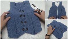 örgü Moda Emo, Knit Vest, Knitting Patterns, Fall Winter, Indigo, Denim, Sweaters, Jackets, Crochet Baby