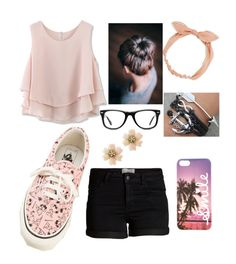 """""""Going out"""" by nat-cat-iconic ❤ liked on Polyvore featuring Chicwish, Pieces, Muse, Arizona and Vans"""